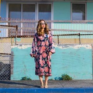 Zara kimono midi velvet dress